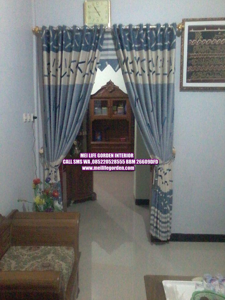 gorden untuk pembatas ruangan ruang tamu dan ruang tengah