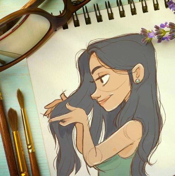 Lavender > cute cartoon sketch by Patricia Souto https://www.artstation.com/artwork/lavander?utm_content=bufferfcca8&utm_medium=social&utm_source=pinterest.com&utm_campaign=buffer #toonart #sketchbook