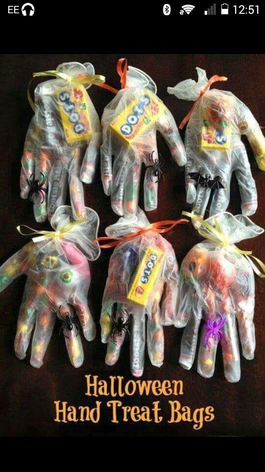 Halloween hand treat bags!
