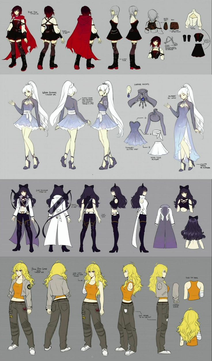 Rwby volume 4 REAL concept art (rooster teeth) ~ I can't be the only one who notices the bumblebee on Yang's pants, right?