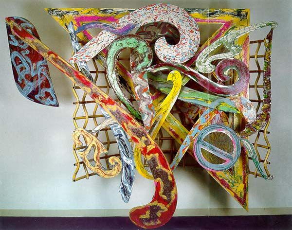 Frank Stella Record for an Exotic Bird: 1988 mixed media on aluminum 86 x 102 x 38 in.