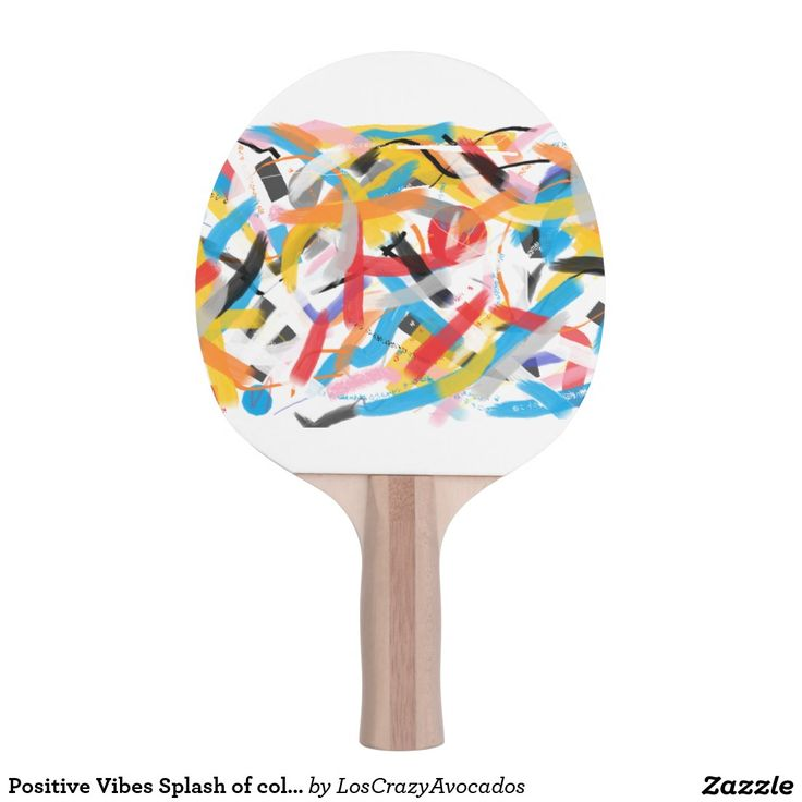 Positive Vibes Splash of color Ping Pong Paddle