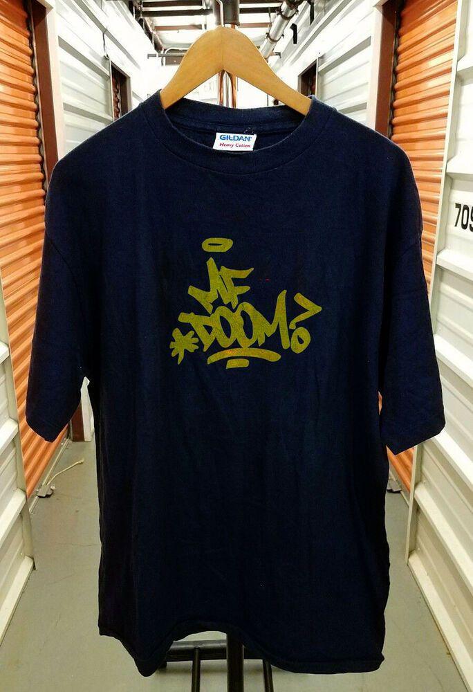 65b127de Vintage MF DOOM T-Shirt Graf Graffiti Black Yellow Rap Tee reprint - Rap  Tshirts