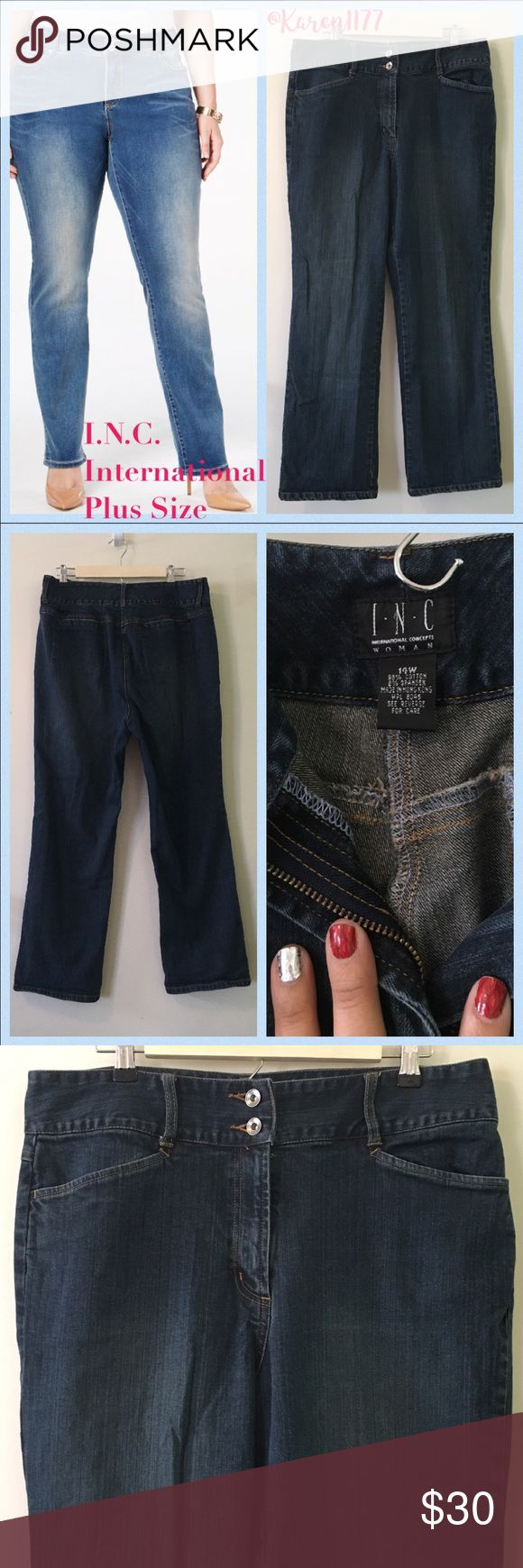 Listing✨INC Woman's Jeans✨ Preloved(used) INC Jeans. ✨A Must Have, Basic weekend, Work, boots or Pumps. ✨Best Deals when you Bundle!!✨Thanks! INC International Concepts Jeans Straight Leg