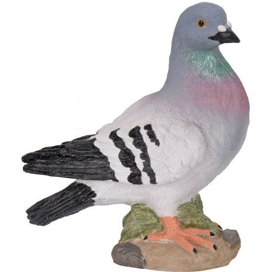 Duiven beelden grijs 24 cm  Grijze duif stenen beeld 24 cm. Stenen beeldje van een grijze duif op een voetstukje. Deze polystone duif is ongeveer 24 cm groot.  EUR 7.95  Meer informatie
