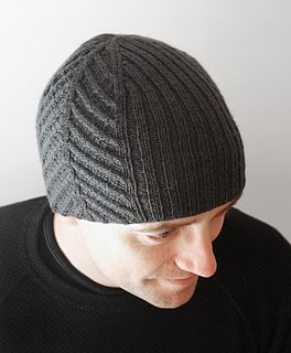 Originally made for a man who loves fishing, but the hat will obviously look good on people with any kinds of interests. The hat has cable patterns along two sides, flanked by rib st. The decreases on top of the hat compliment the cable pattern.