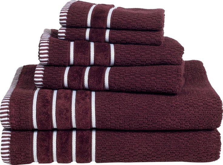 6 Piece Egyptian Cotton Towel Set