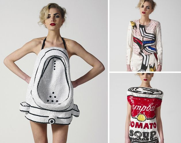 Duchamp Urinal Dress totally f'd up but awesome