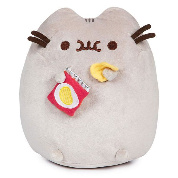 Pusheen with chips plush