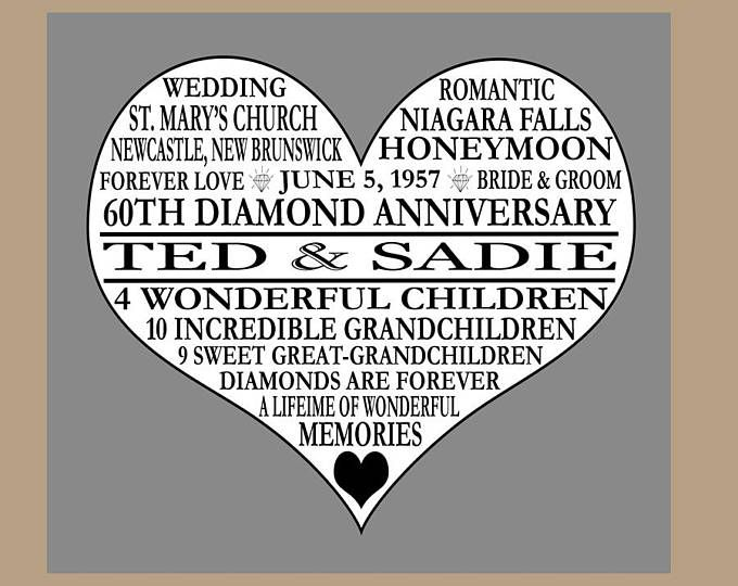 60th Wedding Anniversary Gifts For Parents: Best 25+ Parents Anniversary Gifts Ideas Only On Pinterest