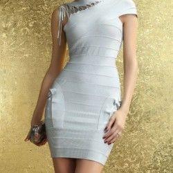 vestido corto gris 1 cindisboutique.info