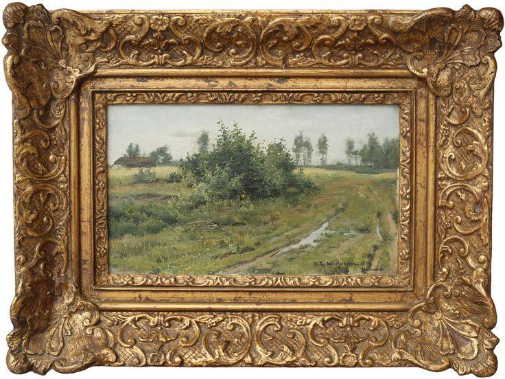 Viktor Westerholm - Tie, v. 1879, 24x40, öljy kankaalle