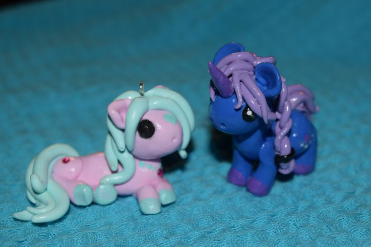 polymer clay pony charms