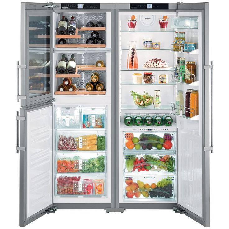 Liebherr SBSES7165 - 121cm Side By Side Biofresh-Plus Fridge Icemaker & Wine Storage   Appliance City