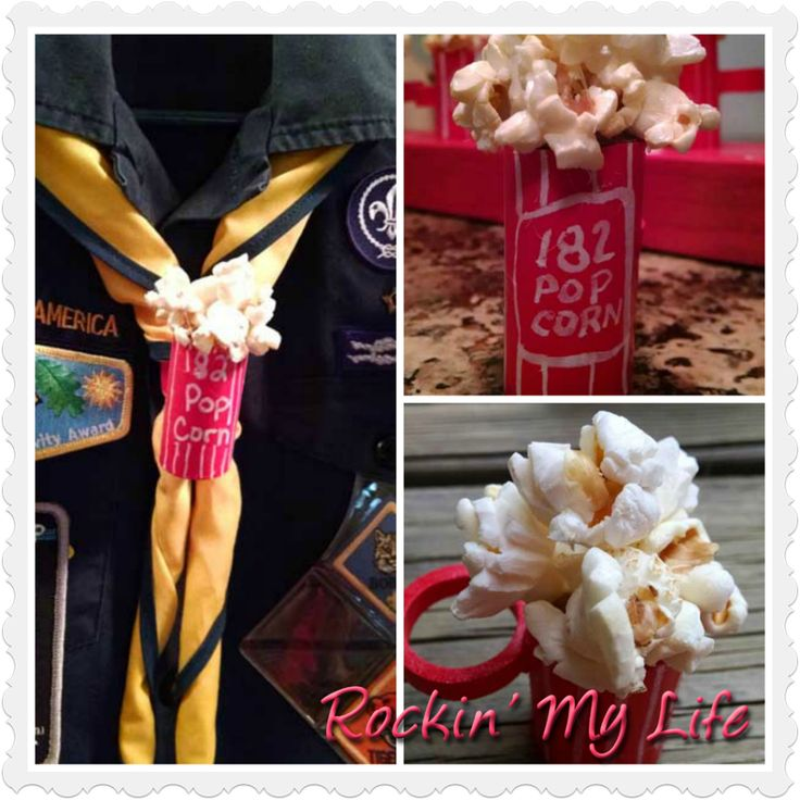 DIY: Cub Scout Popcorn Neckerchief  Slide