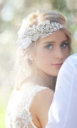 Head piece done #wedding. ADORE. Find more ideas at www.blissbysam.com/daring-devoted