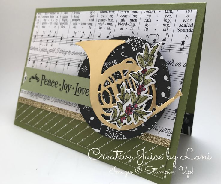 Stampin' Up! Musical Season, Christmas Card, Creative Juice by Loni, TGIF Challenge
