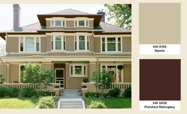 House Colors That Compliment A Dark Brown Roof Google Search Exterior Paint Ideas