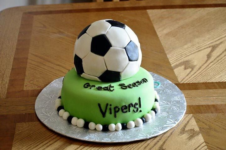Year end soccer party cake