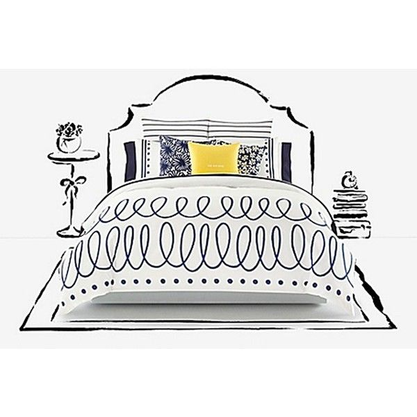 Kate Spade Charlotte Street Comforter (175 CAD) ❤ liked on Polyvore featuring home, bed & bath, bedding, comforters, kate spade bed linens, kate spade comforter, kate spade bedding, patterned bedding and patterned comforters