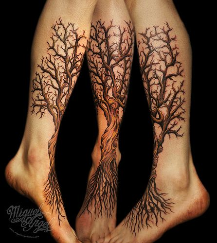 Custom Tree tattoo, if I were to get another one, one like this would be it