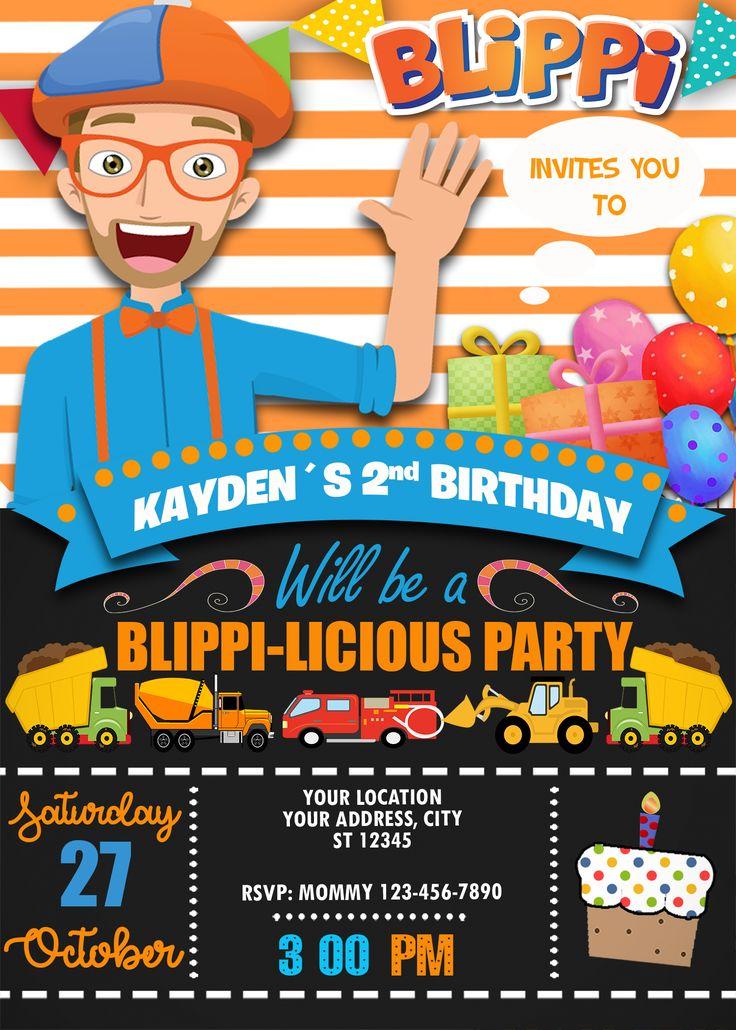 blippi birthday invitation in 2019