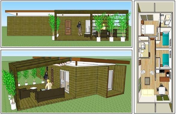 Casas modulares de contenedor a casa pinterest chile - Contenedor maritimo casa ...