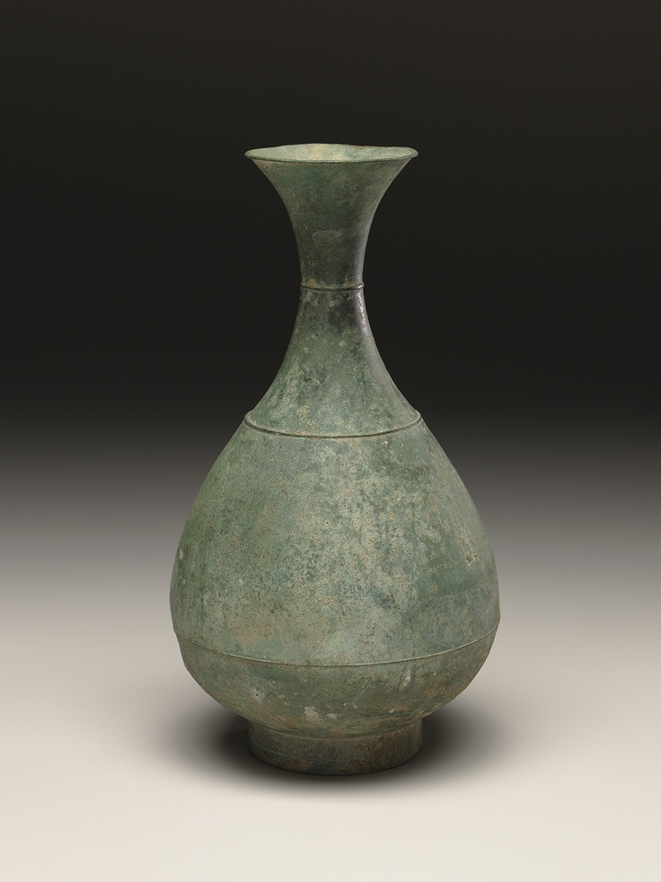 Korean, Goryeo dynasty   (918 - 1392)  Bottle  12th century - 13th century  Copper alloy