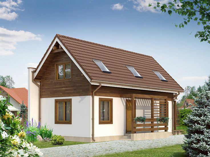 Miś dr-st (75,85 m2) to projekt budynku na wąską działkę z możliwością budowy po granicy, zaprojektowany w technologii szkieletowej. Pełna prezentacja projektu znajduje się na stronie: https://www.domywstylu.pl/projekt-domu-mis_dr-st.php #projekty #domy #projekty gotowe #projekty domów #domywstylu #mtmstyl #style #design #home #houses #architektura