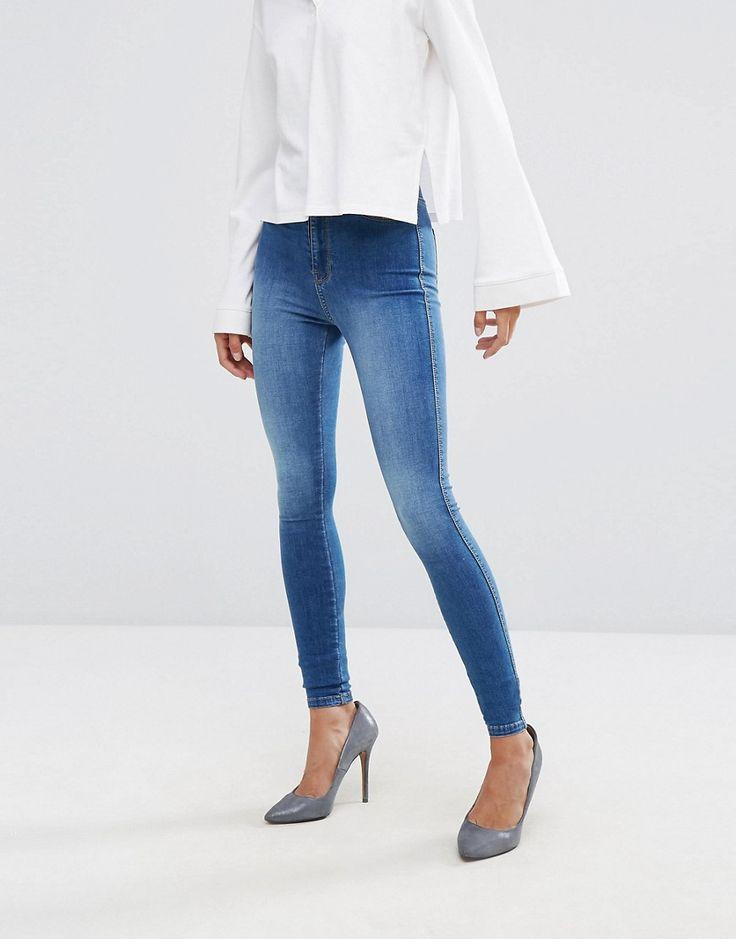 Dr Denim Solitaire High Rise Skinny Jean - Blue
