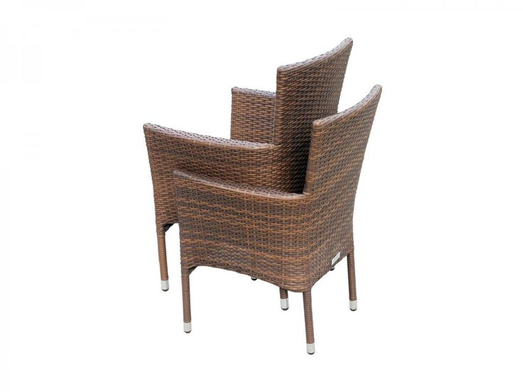 Cambridge 6 Rattan Garden Chairs and Large Round Table Set in Chocolate and Cream