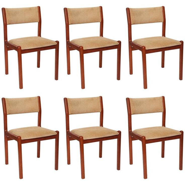 Set Of Six J L Moller Teak Dining Chairs 1960s Denmark Teak Dining Chairs Dining Chairs Teak