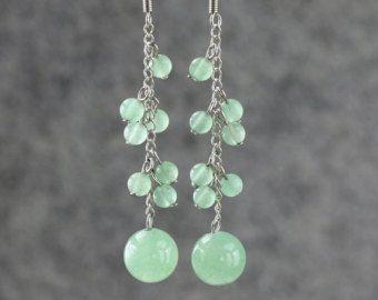 Amethyst dangling chandelier Earrings by AnniDesignsllc on Etsy