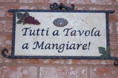 tutti a tavola a mangiare- everyone to the table to eat -italian -by renowned chef Lydia Bastianich