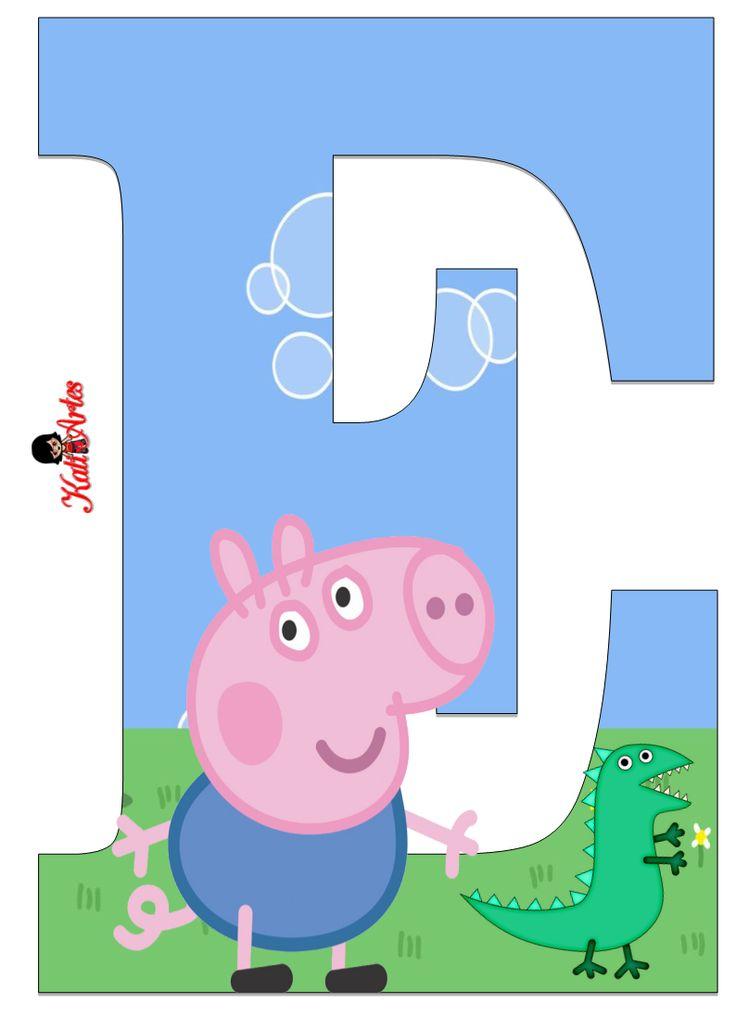Alfabeto de George Pig. | Oh my Alfabetos!