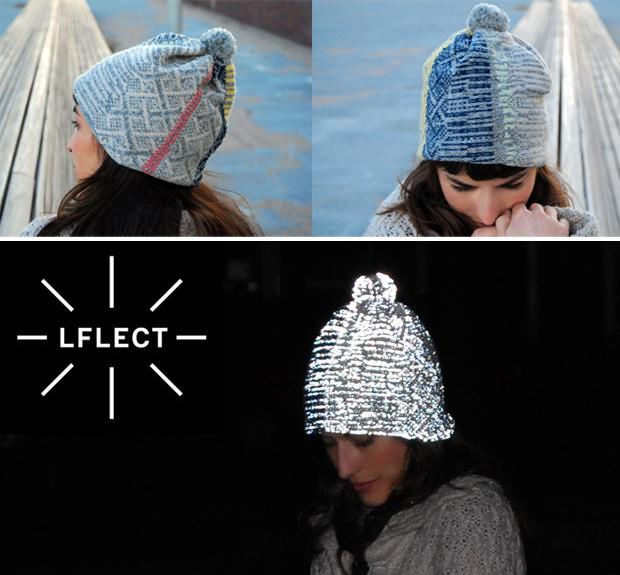 LOVE Lflect's gorgeous knit accessories that just happen to be highly reflective
