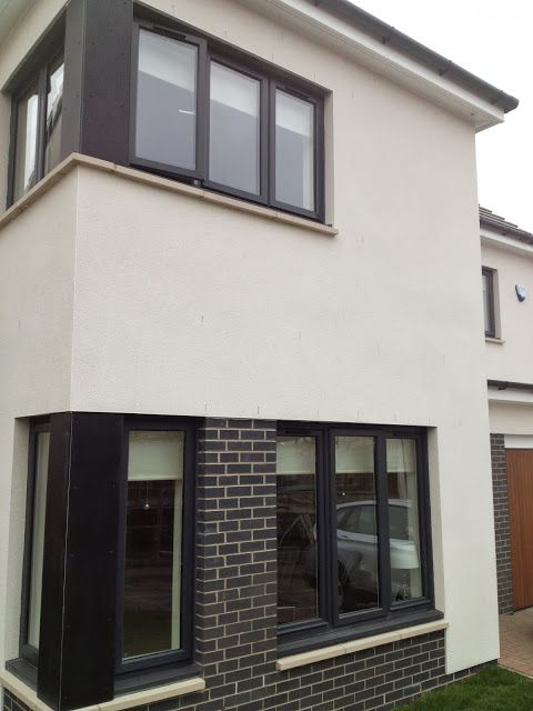 Grey coloured upvc windows would you singletrack for Grey upvc porch