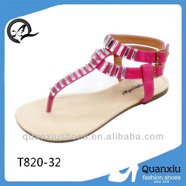fashion flat summer sandals 2014 for women flat sandals in china