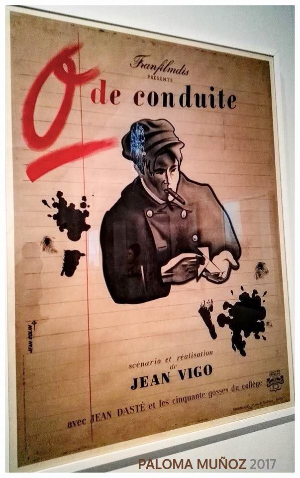 """Jean Colin Cartel para """"Cero en conducta"""" de Jean Vigo 1933-1945 Litografía en color La Cinemateca francesa  Jean Colin Poster for """"Zero in Conduct"""" by Jean Vigo 1933-1945 Lithograph in color The French Cinematheque"""