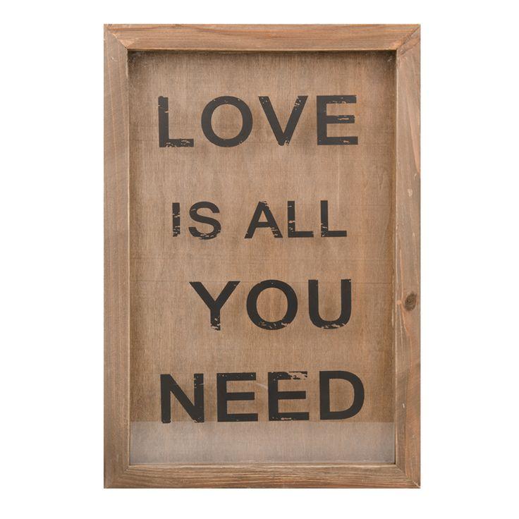 love is wall art print 43x30cm