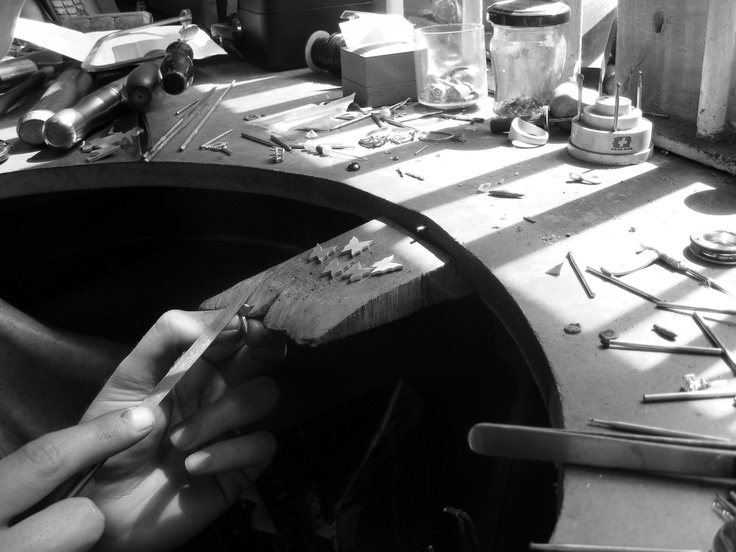 Handcrafting silver butterflies