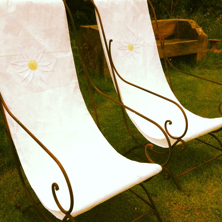 seats commissioned from www.oarsum.co.uk (local company) made from recycled sailcloth Daisybank Cottage New Forest