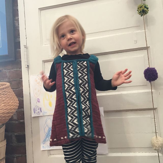 Ravelry: c1szydlo's Miss Althea's Pinafore in Mountain Meadow Wool Cody