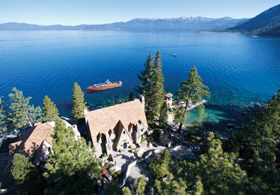 Thunderbird Lodge Lake Tahoe: Lake Tahoe's magical Castle-in-the-Sky. Docent-guided tours take visitors through the stone mansion and grounds.
