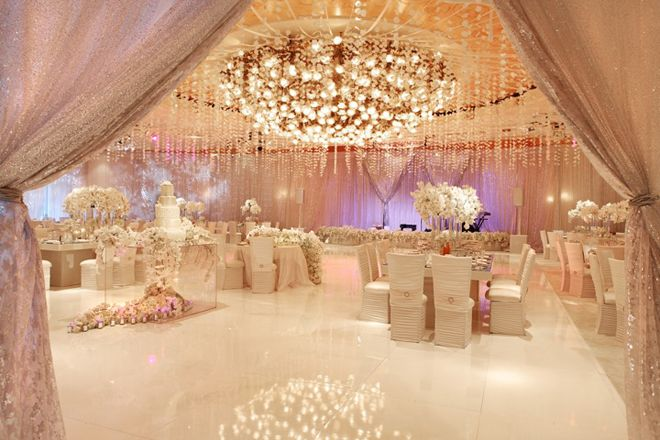 just amazing how they transformed the ballroom at the Beverly hills hotel .stunning...