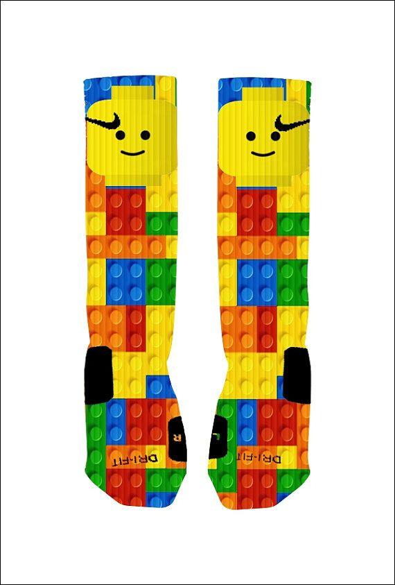 Hey, I found this really awesome Etsy listing at https://www.etsy.com/listing/185114107/custom-lego-socks-custom-nike-elite