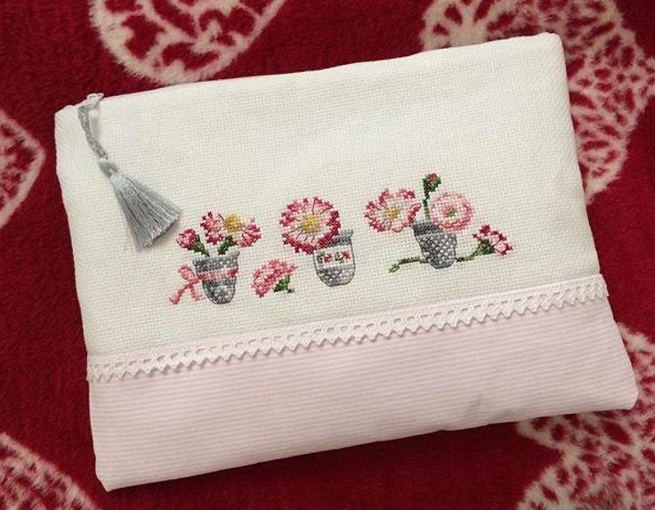 Cross stitch bag hand made
