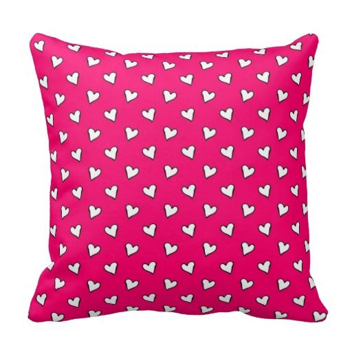 Cute Throw Pillows Pinterest : Cute Pink and White Heart Pattern Throw Pillow MH Design Studio (my digital art) Pinterest ...