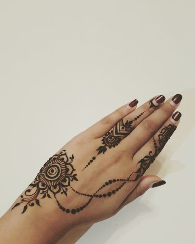"157 Likes, 3 Comments - Dina Jeshani (@dinasmehndi) on Instagram: ""#boomerang #fun #mehndi #henna #freshhenna #natural #floral #chain #mehndiart #hennaart #doodle"""