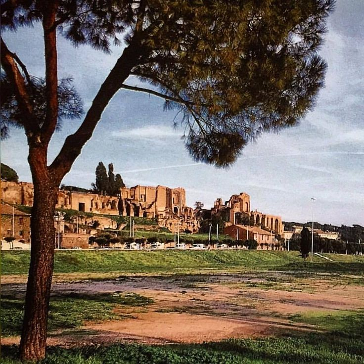 The Circus Maximus, Rome, #circusmaximus #ruins #ancientrome #rome #italy #ancienthistory #history #chariotraces #romanempire #eternalcity #historylovers #ancientworld #travel #traveling #oldphoto